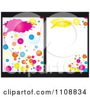Clipart Colorful Bubble Backgrounds With Copyspace On Black Royalty Free Vector Illustration