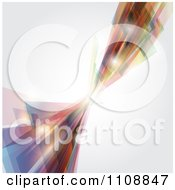 Clipart Background Of Abstract Dynamic Shapes With Shining Orbs On Gray Royalty Free Vector Illustration