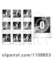 Clipart Black And White Polaroid Photo Count Down Numbers Royalty Free Vector Illustration