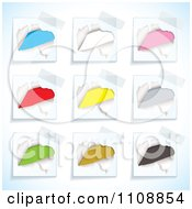 Clipart Tape On Colorful Ripped Notes Notes Royalty Free Vector Illustration