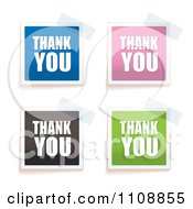 Clipart Tape On Colorful Thank You Notes Royalty Free Vector Illustration by michaeltravers