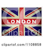 Clipart British Union Jack Flag With London 2012 Text Royalty Free Vector Illustration by michaeltravers