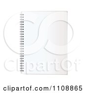 Clipart Blank Page On A Spiral Notebook Royalty Free Vector Illustration