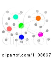 Clipart Colorful Cluster Network Royalty Free Illustration