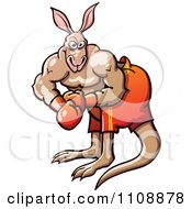 Clipart Athletic Boxer Kangaroo Royalty Free Vector Illustration