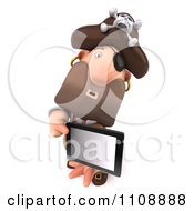 Clipart 3d Pirate Holding A Tablet Computer 2 Royalty Free CGI Illustration by Julos