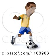 Clipart 3d Brazilian Soccer Player 1 Royalty Free CGI Illustration