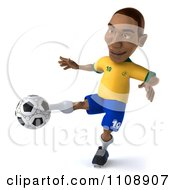 Clipart 3d Brazilian Soccer Player 2 Royalty Free CGI Illustration