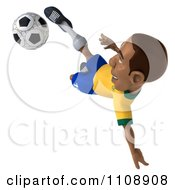 Clipart 3d Brazilian Soccer Player 3 Royalty Free CGI Illustration