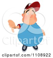 Clipart Chubby Man Holding A Thumb Down Royalty Free Illustration