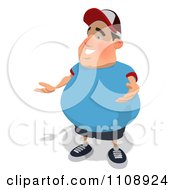 Clipart Chubby Man Presenting 2 Royalty Free Illustration