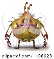 Clipart 3d Germ Monster Royalty Free CGI Illustration by Julos