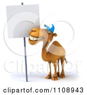 Clipart 3d Happy Camel With A Sign 3 Royalty Free CGI Illustration