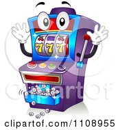 Clipart Happy Jackpot Casino Slot Machine Mascot Royalty Free Vector Illustration