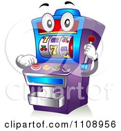Clipart Casino Slot Machine Mascot Royalty Free Vector Illustration
