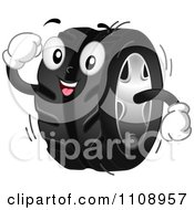 Clipart Happy Automotive Tire Mascot Royalty Free Vector Illustration by BNP Design Studio