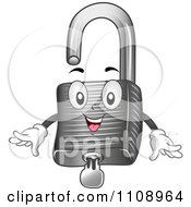 Clipart Happy Padlock Mascot With A Key Royalty Free Vector Illustration by BNP Design Studio