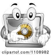 Clipart Vault Mascot Turning Its Dial Royalty Free Vector Illustration by BNP Design Studio