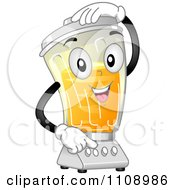 Clipart Blender Mascot Mixing A Drink Royalty Free Vector Illustration