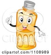 Bottled Juice Mascot Holding A Thumb Up