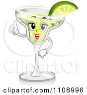 Clipart Thumbs Up Margarita Cocktail Mascot Royalty Free Vector Illustration