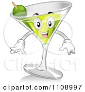 Clipart Martini Cocktail Mascot Royalty Free Vector Illustration