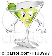 Martini Cocktail Mascot