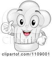 Clipart Happy Chef Hat Mascot Holding A Thumb Up Royalty Free Vector Illustration by BNP Design Studio