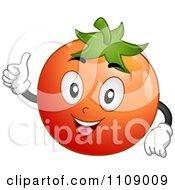 Happy Tomato Mascot Holding A Thumb Up