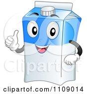 Milk Carton Mascot Holding A Thumb Up