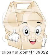 Clipart Food Take Out Box Mascot Royalty Free Vector Illustration
