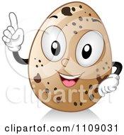 Quail Egg Mascot With An Idea
