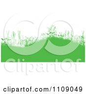 Clipart Green Grassy Burms With Wildflowers And Weeds On White Royalty Free Vector Illustration by KJ Pargeter