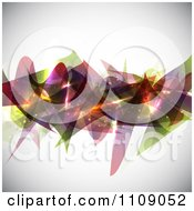 Background Of Abstract Shapes And Glowing Sparkles On Shaded Gray
