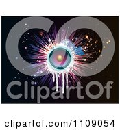 Clipart Music Speaker With Dripping Grunge A Burst And Splatters On Black Royalty Free Vector Illustration