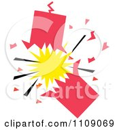 Clipart Exploding Firecracker Royalty Free Vector Illustration