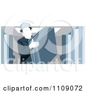 Clipart Industrial Warehouse Worker Man Carrying Slabs Of Cardboard Royalty Free Vector Illustration
