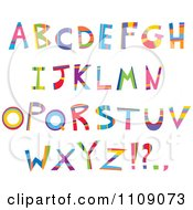 Clipart Colorful Capital Letters And Punctuation Royalty Free Vector Illustration