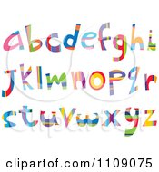 Clipart Colorful Lowercase Letters Royalty Free Vector Illustration