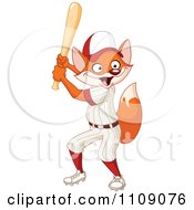 Baseball Player Fox Batting