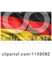3d Waving Silk German Flag Background by stockillustrations