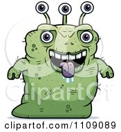 Clipart Ugly Green Alien Royalty Free Vector Illustration