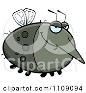 Clipart Chubby Sly Mosquito Royalty Free Vector Illustration
