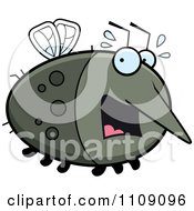 Clipart Chubby Scared Mosquito Royalty Free Vector Illustration