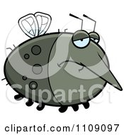 Clipart Chubby Depressed Mosquito Royalty Free Vector Illustration