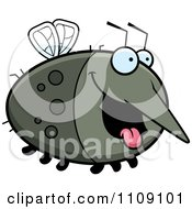Clipart Chubby Hungry Mosquito Royalty Free Vector Illustration