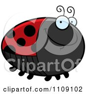 Clipart Chubby Smiling Ladybug Royalty Free Vector Illustration by Cory Thoman