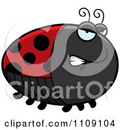 Clipart Chubby Angry Ladybug Royalty Free Vector Illustration by Cory Thoman