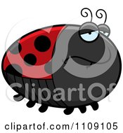 Clipart Chubby Depressed Ladybug Royalty Free Vector Illustration by Cory Thoman