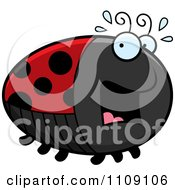 Clipart Chubby Scared Ladybug Royalty Free Vector Illustration by Cory Thoman